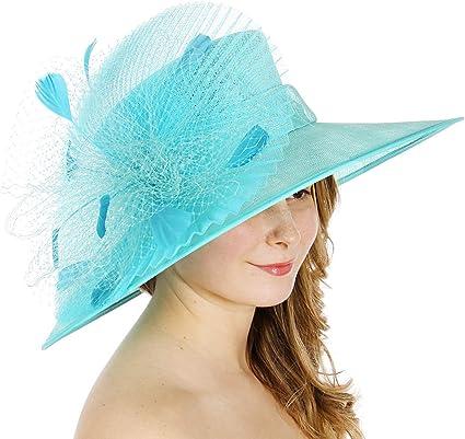 Koola/'s Church Hats Organza Summer Sun Party Kentucky Derby Womens Hats