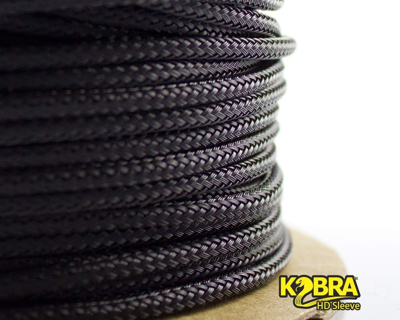 - Black 50 feet Mini-Spool 1//2in mod//smart High Density Kobra Sleeve