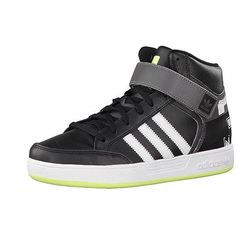 adidas niños Zapatillas Varial Medio J - core negro/ftwr blanco/amarillo solar, 38 2/3: Amazon.es: Zapatos y complementos