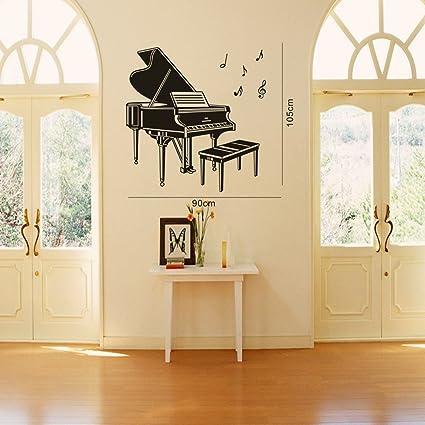 Amazon.com: TGSIK Beautiful Concert Grand Piano Wall Stickers Music ...
