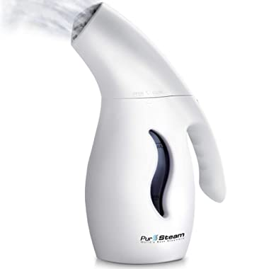 PurSteam Elite Powerful 7-1 Clothes/Garment/Fabric Steamer. Remove Wrinkles/Steam/Soften/Clean/Sanitize/Sterilize and Defrost with UltraFast-Heat Aluminum Heating Element. Perfect for Home and Travel