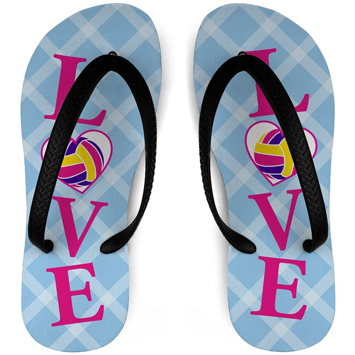 Volleyball Flip Flops LOVE Volleyball hot sale