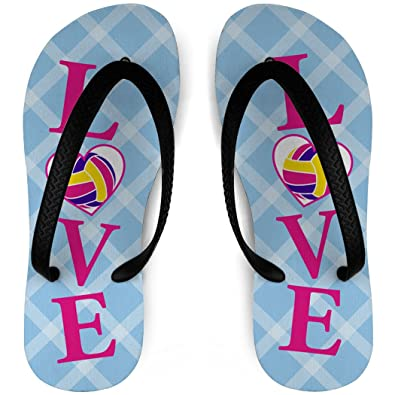 Volleyball Flip Flops LOVE Volleyball