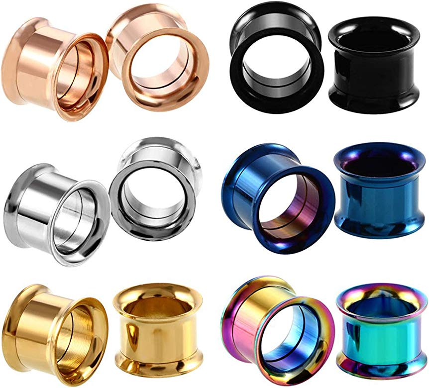 Awinrel Stainless Steel Ear Gauges Plug Game Console and Fk Off Tunnel Stretching Expander Body Piercing Jewelry 4 Pieces Set 2G-1