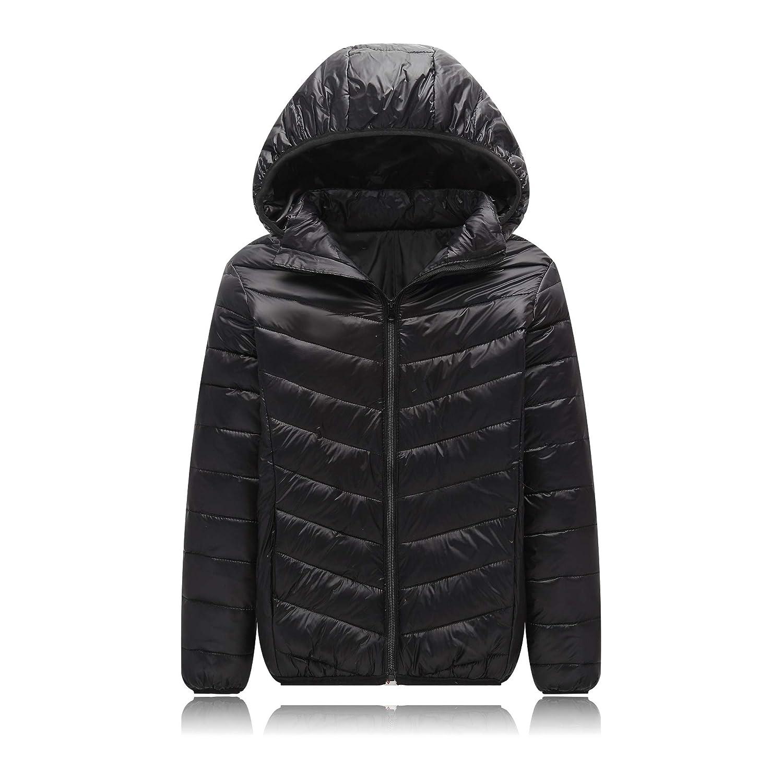 UGREVZ Unisex Big Girls Boys Light Winter Outerwear Teens Hooded Down Jacket Coat 9-13T