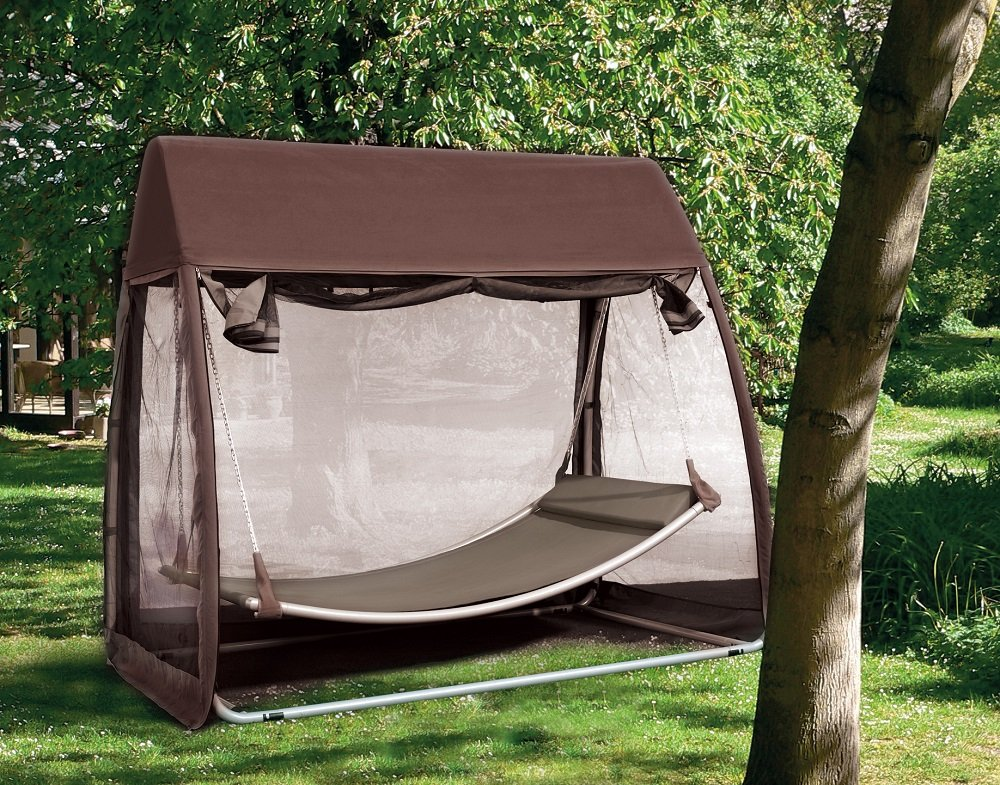 Abba Patio Outdoor Canopy Cover Hanging Swing Hammock with Mosquito Net