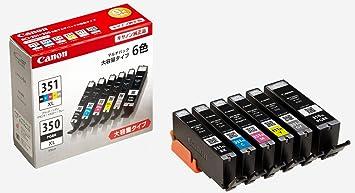 【クリックで詳細表示】Canon 純正 インク カートリッジ BCI-351XL(BK/C/M/Y/GY)+BCI-350XL 6色マルチパック 大容量タイプ BCI-351XL+350XL/6MP