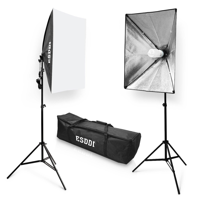ESDDI Softbox Focos Fotografia Kit Iluminacion Estudio Fotografia con Lampara Fotografia W