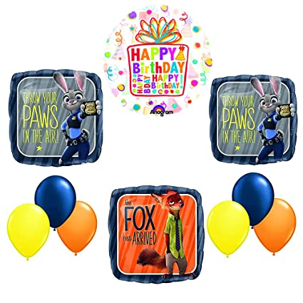 Amazon Zootopia Balloon Birthday Party Supplies Decoration Kit Toys Games