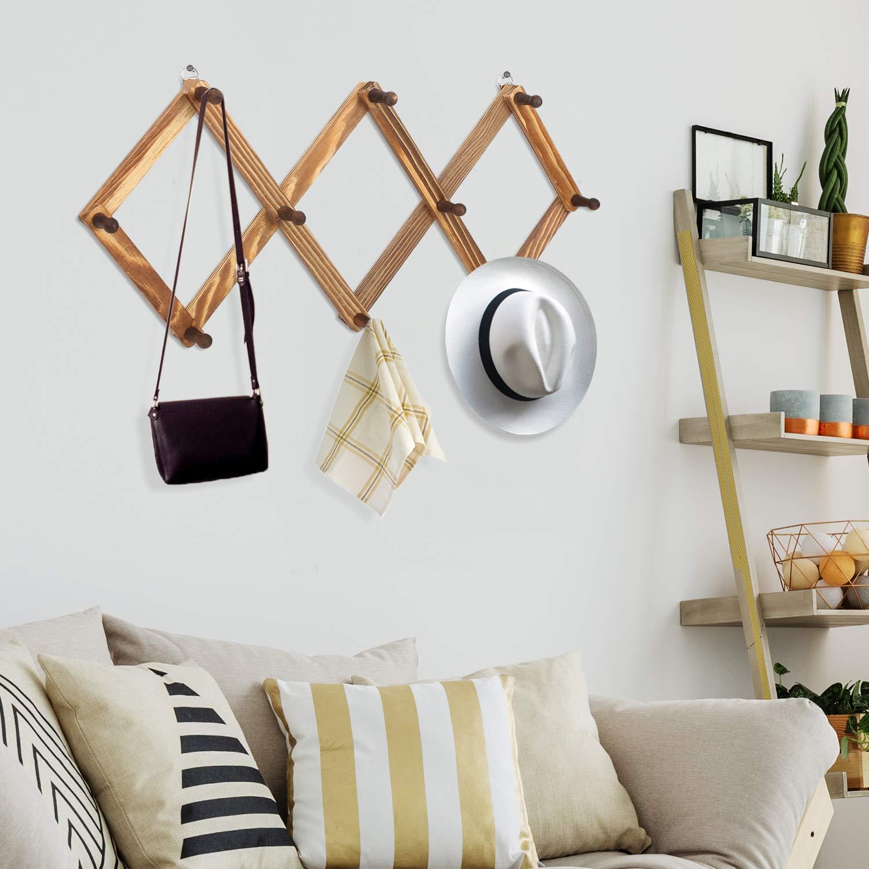 Amazon.com: 10 pinzas de madera para colgar en la pared ...