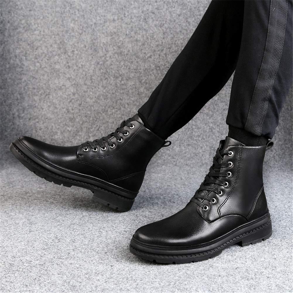 Männer Schuhe Herrenschuhe, Herren-High-Top-Kampfstiefel sowie sowie sowie samtgroße britische Militärstiefel, die Nicht sichtbar sind Herrenmode Stiefel (Farbe   EIN, Größe   38) 8fabd8
