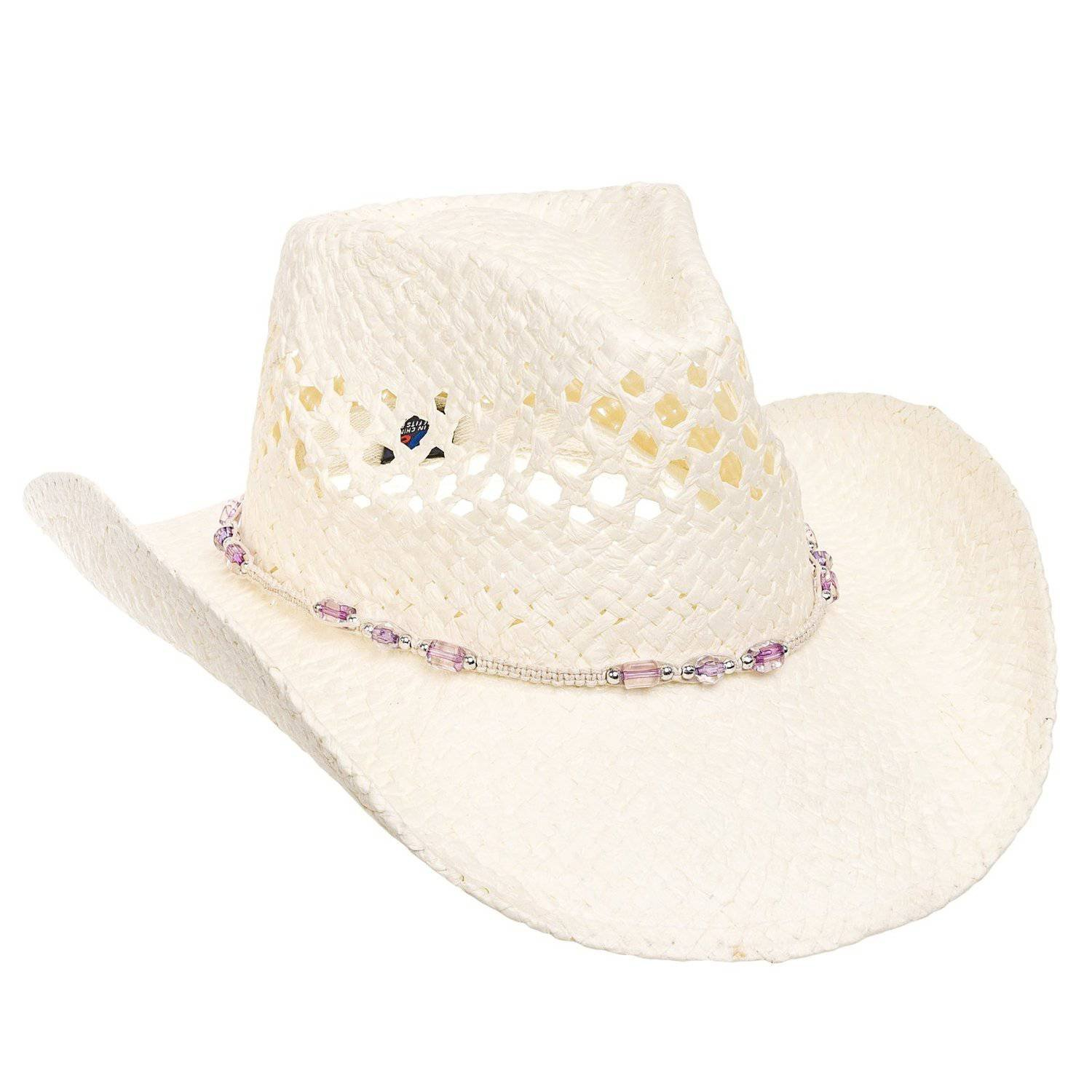 MG Womens Straw Outback Toyo Cowboy Hat - Natural