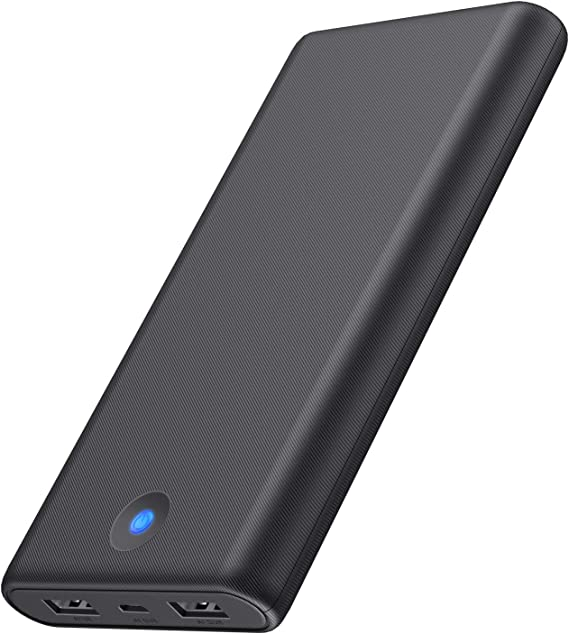 Portable Charger Ekrist 25800mAh, High Capacity Ultra Slim Power Bank with 2 USB Ports & Colorful Indicator,Power Delivery External Cell Phone Battery