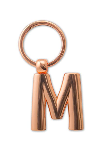 IF 47313 M - Llavero de metal con letra de oro rosa: Amazon ...