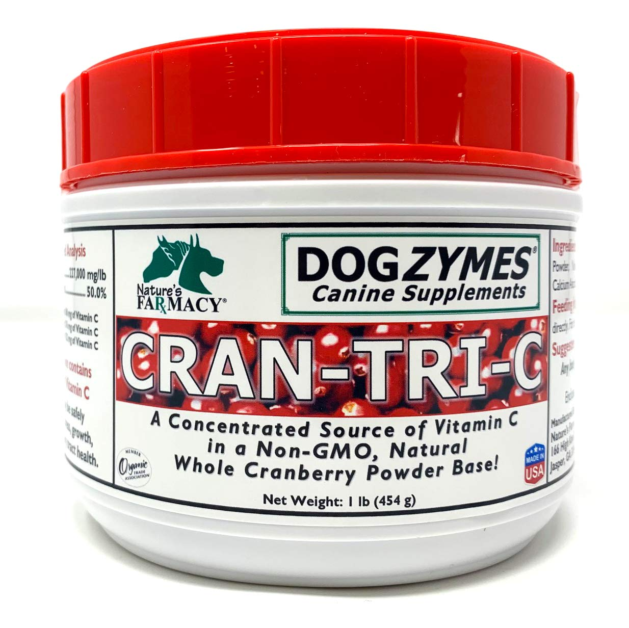 Dogzymes Cran Tri C Urinary Tract Support (1 Pound) by Dogzymes