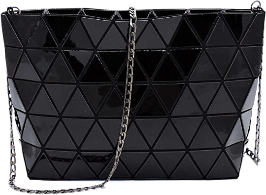 Geometric purses and handbags shard lattice eco-friendly Leather handbag+crossbody+pouch 3pcs set
