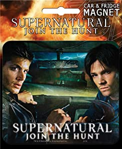 Ata-Boy Supernatural Die-Cut Dean & Sam Magnet for Cars, Refrigerators and Lockers