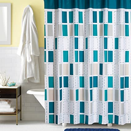 Ufaitheart Modern Checkered Fabric Shower Curtain Liner Stall 36quot X 78quot