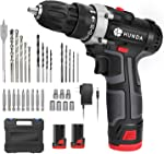 Cordless Drill Set, 12.8V Portable Drill Driver Cordless Power Drill with