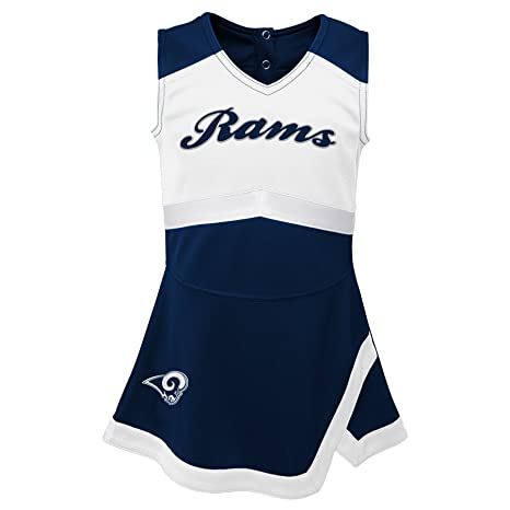 NFL by Outerstuff NFL Los Angeles Rams Infant Cheer Captain Jumper Dress Dark  Navy 65f6a740f