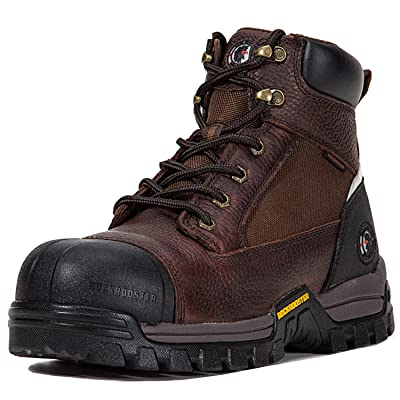 ROCKROOSTER Work Boots for Men, Composite/Soft Toe Waterproof Safety Working Shoes | Industrial & Construction Boots
