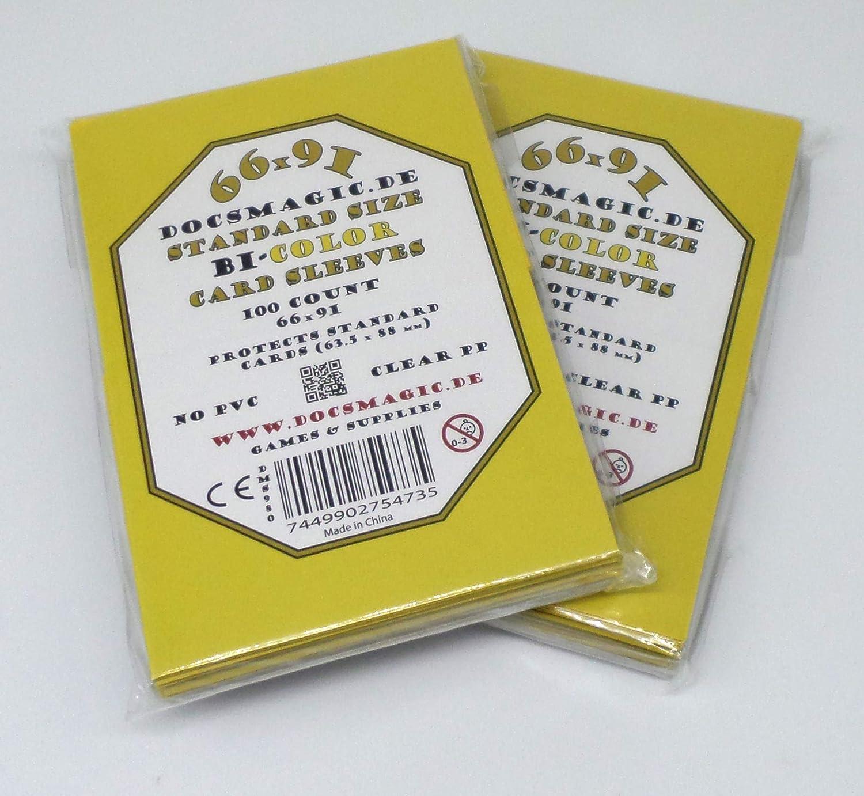 Black Standard Size 66 x 91 100 Docsmagic.de Premium Bi-Color Card Sleeves Mat