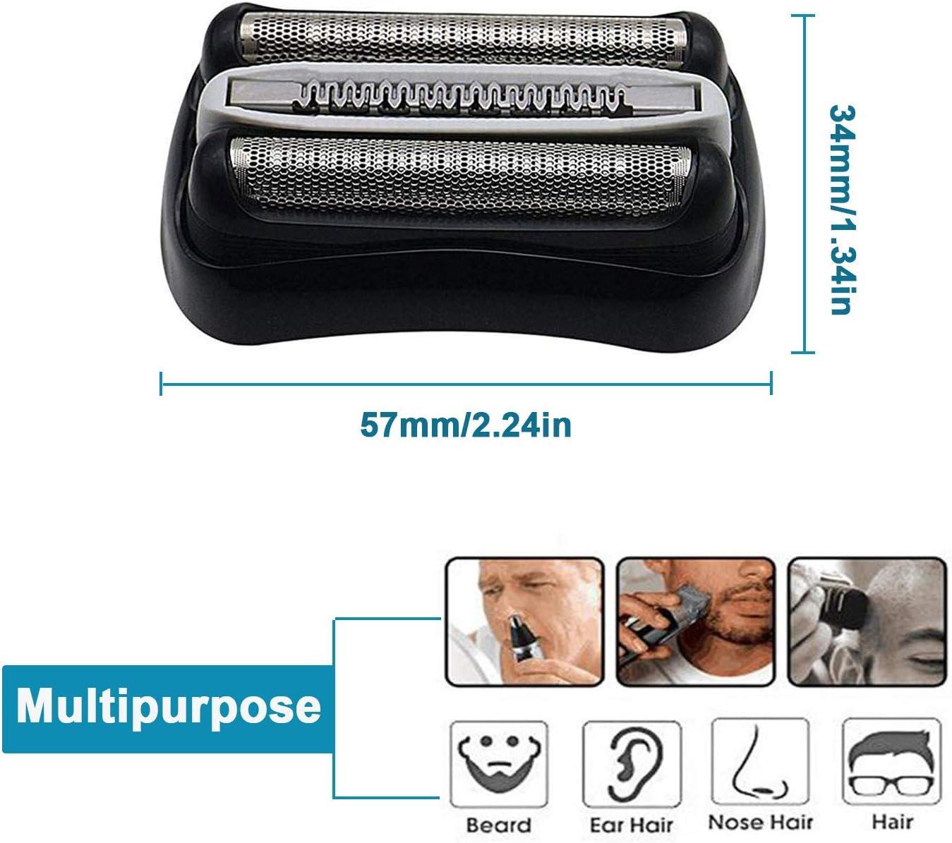 Cutter Blade Shaver lámina de pantalla para afeitadora eléctrica para hombres (32S) Compatible con la afeitadora eléctrica de la serie Braun Modelos 3000s,3010s,3040s,3050cc,3070cc,3080s,3090cc: Amazon.es: Salud y cuidado personal