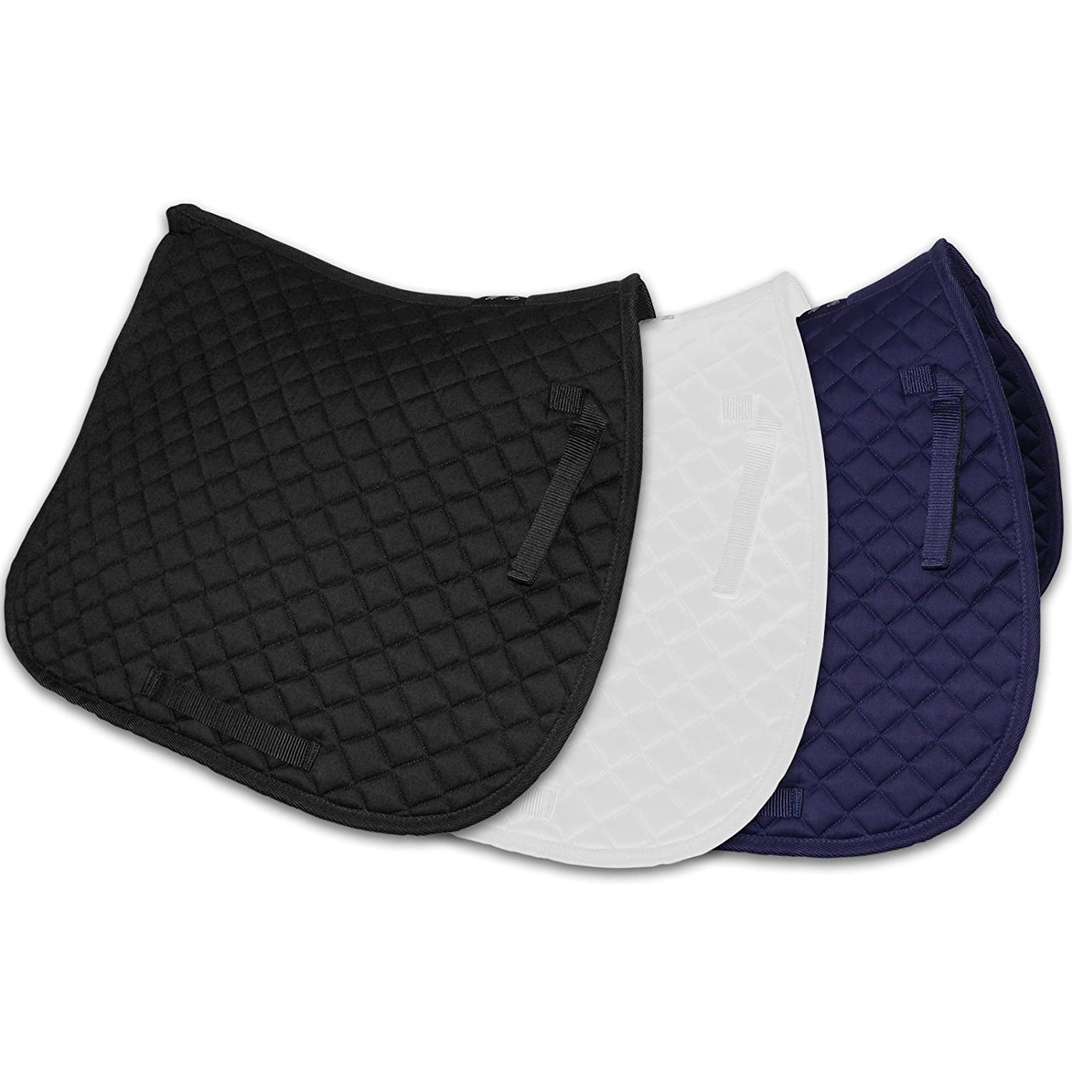 WOLSELEY essentials Saddle Pad - Sizes Pony & Full with Soft Durable Diamond Quilting AND Tigerbox® Antibacterial Pen!