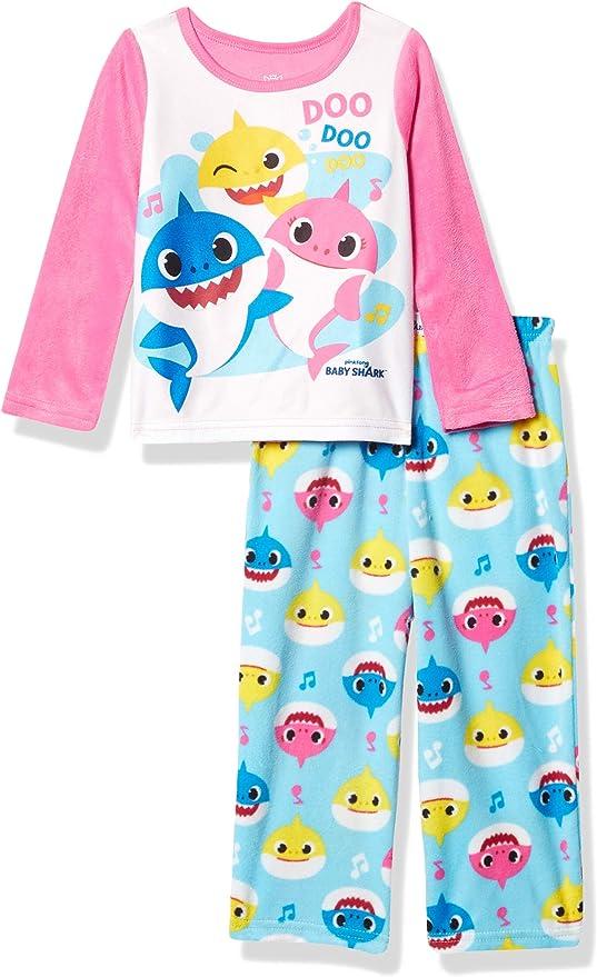 New Girls Kids Toddler Baby Shark Pyjamas Pjs Song Doo Doo 18 Months 5 Years
