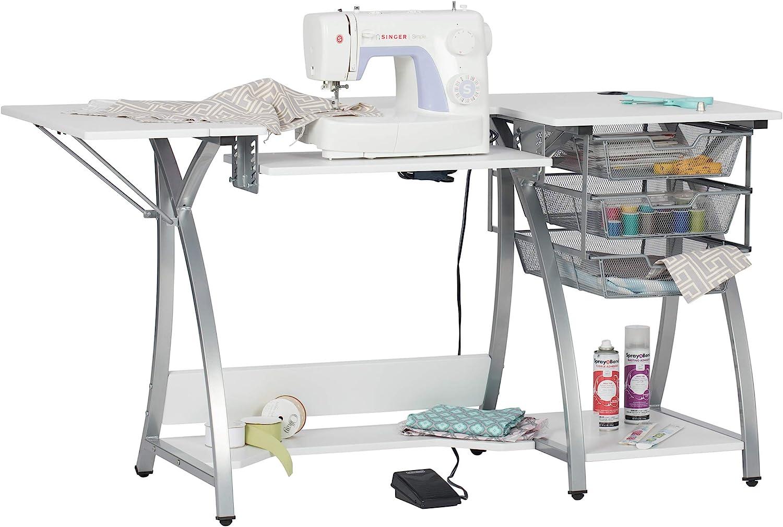 SD STUDIO DESIGNS W Mesa de máquina de Coser con 3 cajones de ...