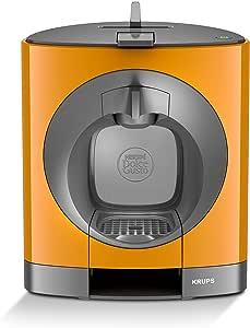 Krups Dolce Gosto - Cafetera de goteo, 1500 W, color naranja ...