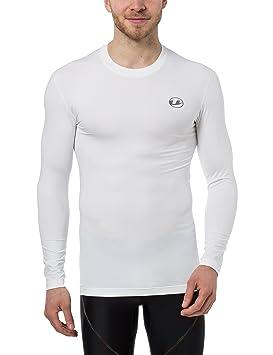 Ultrasport Camiseta de compresión de manga larga para hombre, camiseta funcional Ben, transpirable –