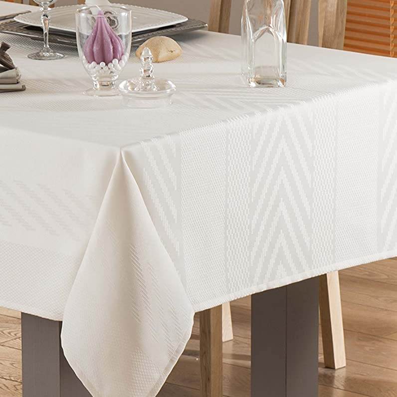 Nydel 367939 Abelia Nappe Ovale Crème 180 x 280 x 0,2 cm: Amazon ...