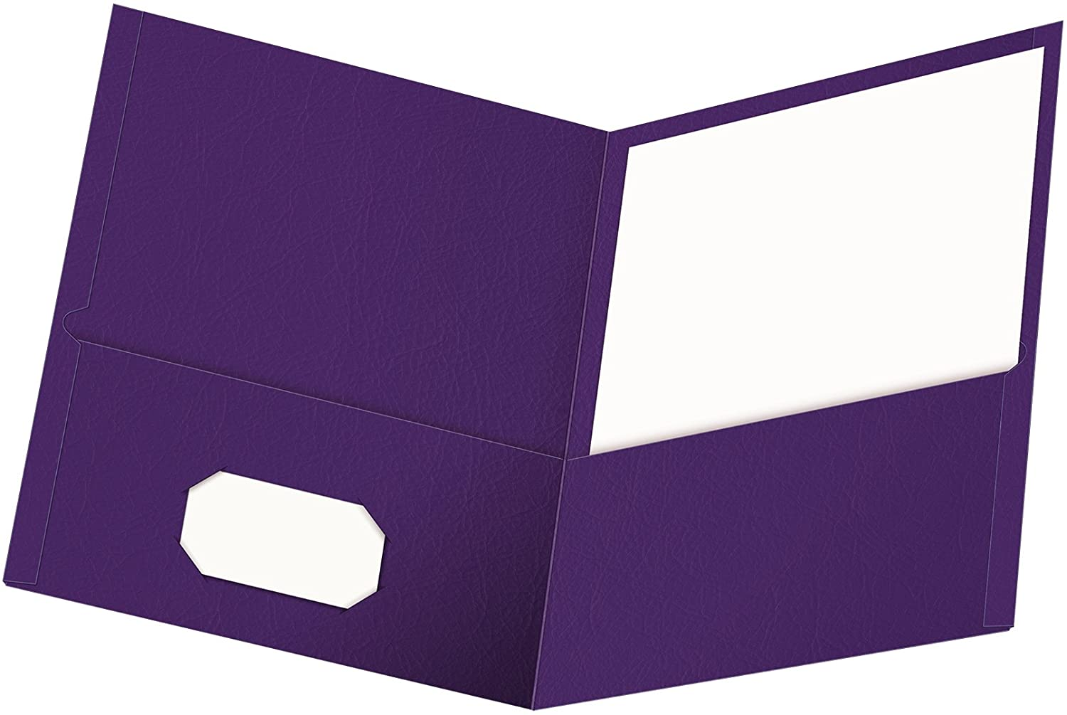 Oxford Twin-Pocket Folders, Textured Paper, Letter Size, Purple, Holds 100 Sheets, Box of 25 (57514EE), 8-1/2 x 11