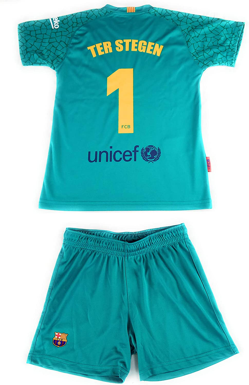 Rogers Equipación 17-18 FC Barcelona niño TER STEGEN camiseta pantalón tallas 6 a 14: Amazon.es: Deportes y aire libre