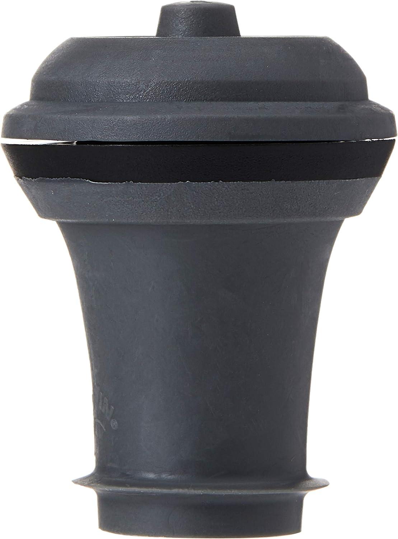 Vacu Vin Tapones para Bomba de vacío, Color, Set 2 Unidades, Silicona, Gris Oscuro, 3.1x3.9x3.7 cm