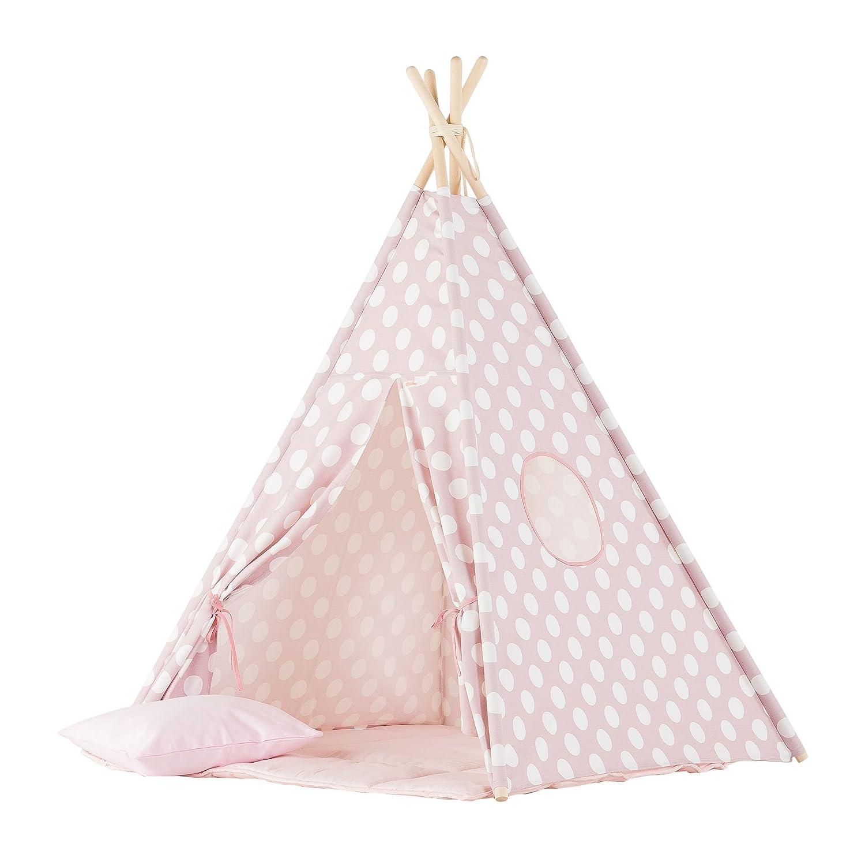 wigiwama Teepee-Set Dots, rosa groß