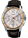 Casio Men's Quartz Watch, Analog Display and Leather Strap MTP1374L-7A