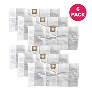 Think Crucial Replacement Vacuum Bags Compatible with Shop-Vac Vacuum Part # 90663 & 90663-00, Fits Models: Type G 15-22 Gallon Bags, Shop-Vac Wet & Dry Vacuum (6 Pack)