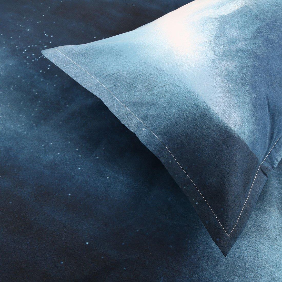 uxcell/® 3D Galaxy Mysterious Boundless Bedding Sets Duvet//Quilt Cover Set 3pcs Queen Size White Horse