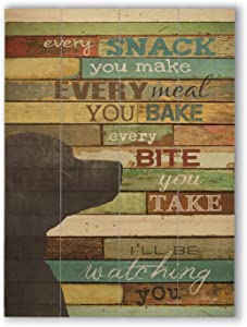 "wallsthatspeak Funny Dog Wall Quote, Wood Pallet Decor, Rustic Farmhouse Print (12"" x 16"")"