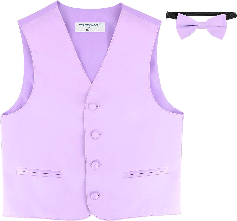 Covona BOYS Dress Vest BOW TIE Solid LAVENDER PURPLE Color BowTie Set