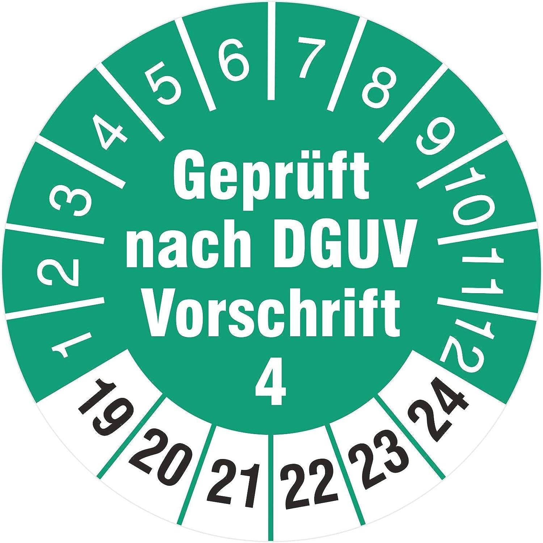 200 Pr/üfplaketten 18 mm Pr/üfetiketten Gepr/üft nach VDE 0100 2019-2024 Rollenware stark haftend