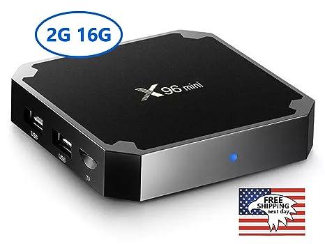 x96 Mini Android TV Box, Android 7.1.2 turrón Smart TV Box, Quad Core 2 GB/16 GB 4 K Ultra HD Smart reproductores multimedia con KD 17,4 por blazerstreams: Amazon.es: Electrónica