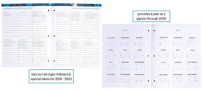 Amazon.com: Vera Bradley 13 Month Booklet Planner, July 2019 ...
