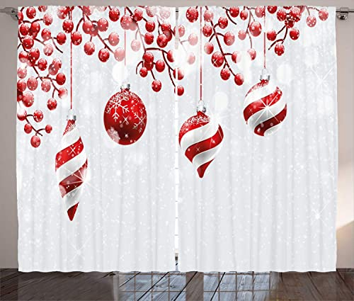 Ambesonne Christmas Curtain