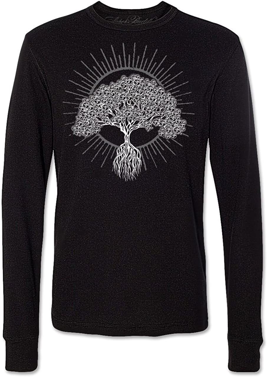 Super Buddha Mens Bodhi Om Tree.2 Soft Blend Made in USA Long Sleeve Thermal