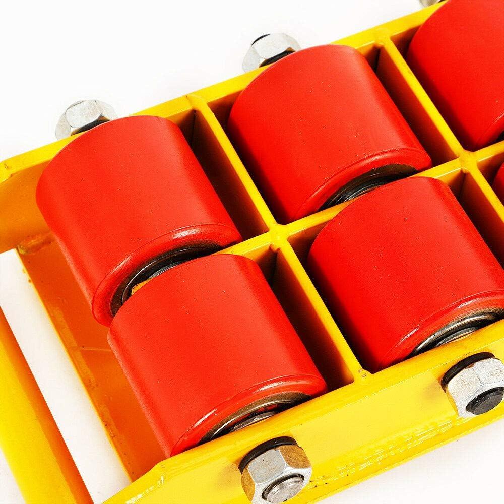8T Ensemble de Transport Chariot de Meuble sur Roulette pour Outils de Transport Heavy Duty Mover Rollers Jaune 17600lbs