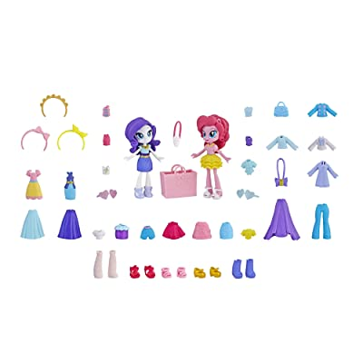My Little Pony Equestria Girls Fashion Squad Rarity & Pinkie Pie Mini Doll Set with 40+ Accessories: Toys & Games