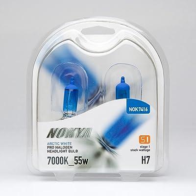 Nokya H7 Headlight Bulbs — Arctic White 7000K 55W (Stage 1): Automotive [5Bkhe0400078]